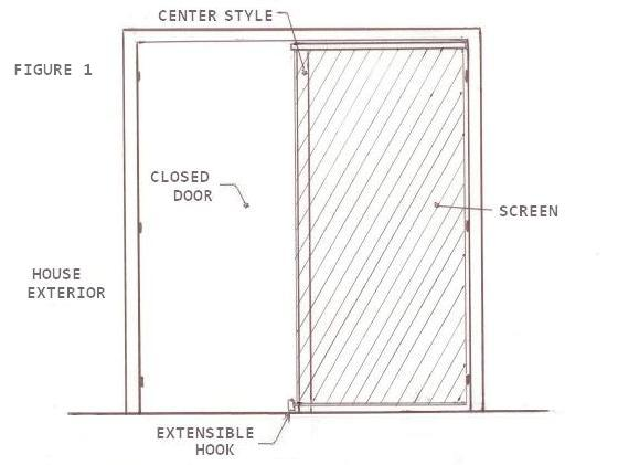 Secret screen pull down retractable screen doors french for Pull down retractable screen door